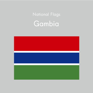 国旗ステッカー ガンビア