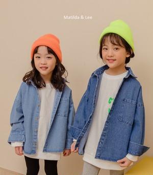 デニムシャツ 2色【MATILDA&LEE】キッズ~ジュニア
