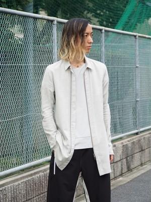 【SALE】rood ニュートラルポジションロングシャツ Off White