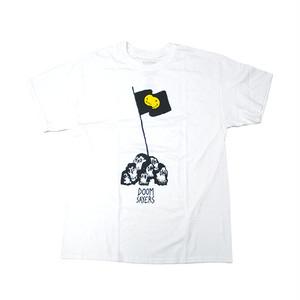DOOM SAYERS - SKULL FLAG TEE (White)