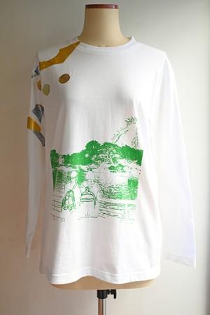 NO.474 吉祥寺井の頭公園のロングTシャツ【東京都】【 Mサイズ】