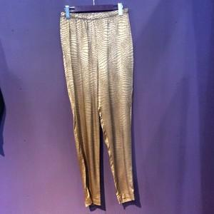 80's gold crocodile pattern easypants [B1467]