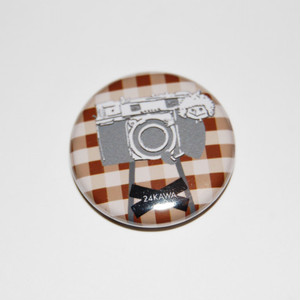Camera Girl Button Badges