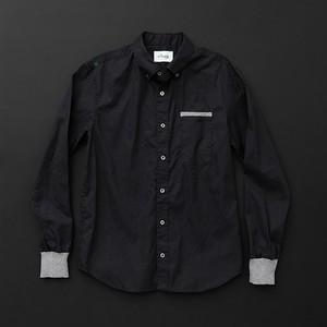 メンズ スタンダード 黒×灰+P