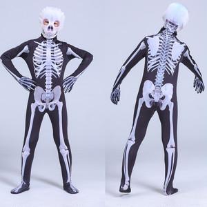 3566ハロウィン 仮装 子供 コスプレ衣装 コスチューム キッズ ハロウィーンHalloween 骸骨 ガイコツ 親子揃い 大人 身長110cm-180cm
