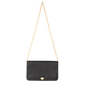 Christian Dior/クリスチャン・ディオール レザーチェーンショルダーバッグ ブラック(P13142)