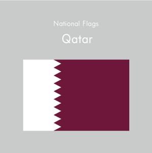 国旗ステッカー カタール