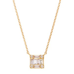 K18YGダイヤモンドネックレス 020209002618