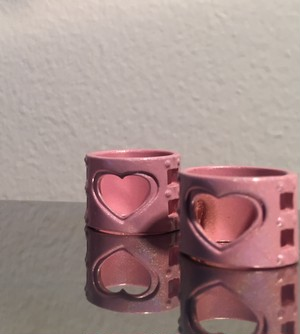 hundcuffs RING shimmer pink