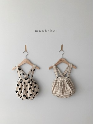 【予約販売】mono suspender-bloomers 【baby】〈monbebe〉