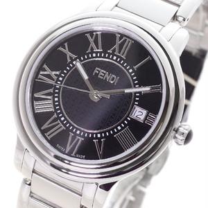フェンディ FENDI 腕時計 メンズ F257011000 クォーツ ブラック シルバー