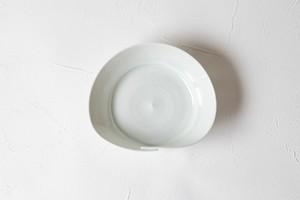 [幾田 晴子]うすみどり貝形3寸皿