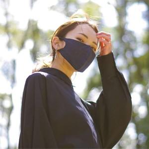 3層シルクマスク ギャザータイプ /カラー:チャコール【bionatural】