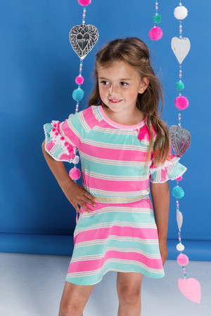 Girls Colorful border Tee