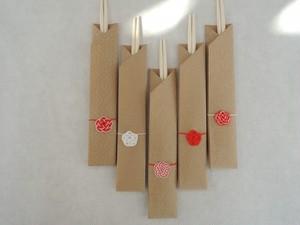 箸袋 ~紅白梅~