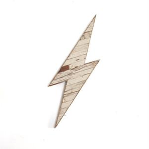 "Reclaimed Icon ""Lightning Bolt """