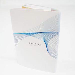 紙製ブックカバー4枚セット(幾何学柄) 文庫本サイズ
