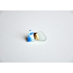 Atsuko Kobayashi【 umi-umi ブローチ〔へ〕 】シーグラス / 限定 / limited / antique / vintage / brooch / handmade / original / japan