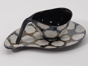 黒花真珠 カップ&ソーサー