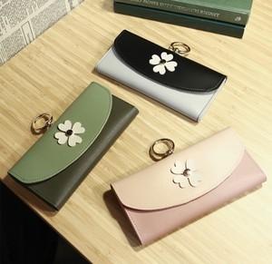 レディースファッション 財布 小物 カードケース 小銭いれ かわいい 花 カジュアル シンプル おしゃれ 長財布★02897