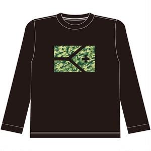 KYUS迷彩フラッグドライメッシュロングTシャツ
