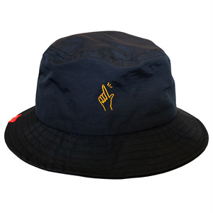 L-FINGER LOGO NYLON BUCKET HAT / LIFEdsgn