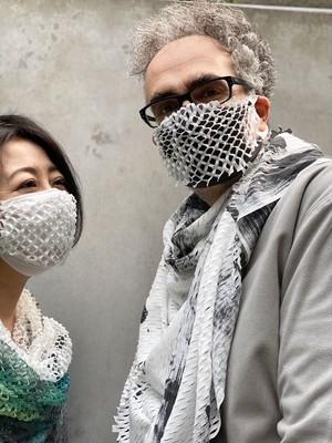 WWD掲載 マスク カバー[着るスカーフ]MASK COVER CORNICE
