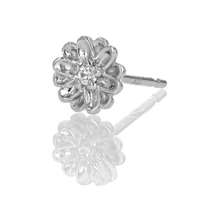 Silver / ピアス (片耳) / Daisy melee diamond pierce