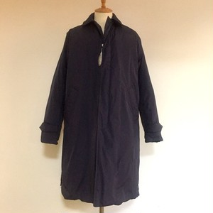 Down Soutien Collar Coat Navy