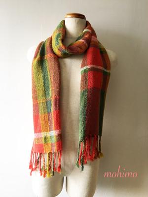 手織りストール シルク Si-002