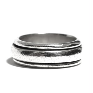 Vintage Sterling Silver Mexican Plain Spinner Band Ring