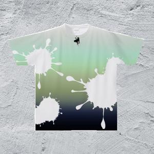 XL-ピンマイクTシャツ/メンズ*インク夜明けカラー【手描きオリジナルデザイン】