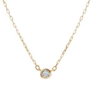 K10YGダイヤモンドネックレス 020201009204