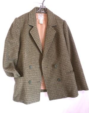 CELINE 1970's Lattice Pattern Wool Jacket