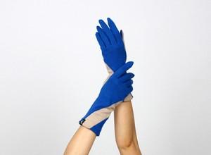% PERCENT ジャージー 手袋(ブルー・ベージュ)女性用・ウール100%・スマホ対応・縫製手袋
