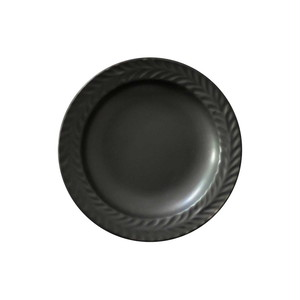 波佐見焼 翔芳窯 ローズマリー リムプレート 皿 9.5cm マットブラック