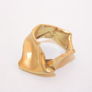crumpled ring(gold)