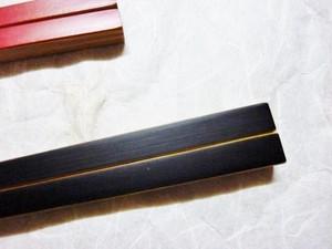 スス竹四角箸 (黒・赤)