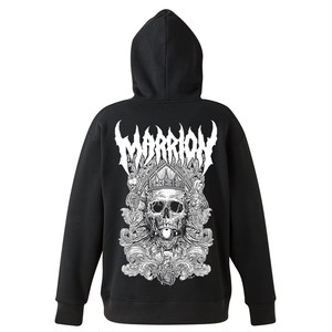 DEATH MARRION~Pullover Hoodie (Black×White)