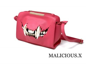 cat fang shoulder bag / pink
