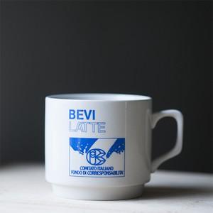 """ノベルティ マグカップ """"BEVI LATTE"""" (italy)"""