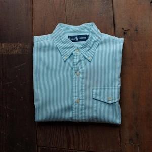 Ralph Lauren Button-Down Shirt / ラルフローレン マチ付き ストライプ シャツ