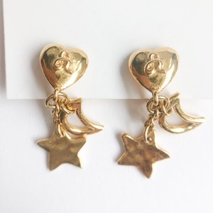 """SONIA RYKIEL"" moon & star earring[e-1257] ヴィンテージイヤリング"