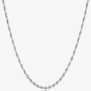 Diamond Cut Rope Chain 【3mm/SILVER】