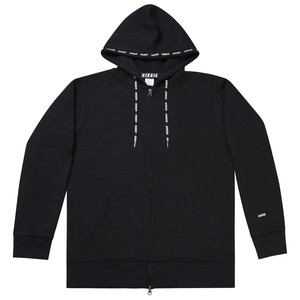 LOGO REPEAT ZIP UP (BLACK)
