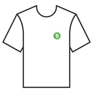 BitcoinCashTシャツ シリーズA 白 COFA(A4-003)