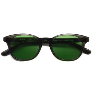 BOSTON CLUB ボストンクラブ / MICKEY Sun / 03 Gray Clear - Green Lenses クリアグレー-グリーンレンズ ウェリントンサングラス