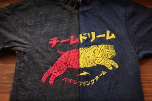 TEAM DREAM / Japan Cat Puff Print Tri Blend Tee