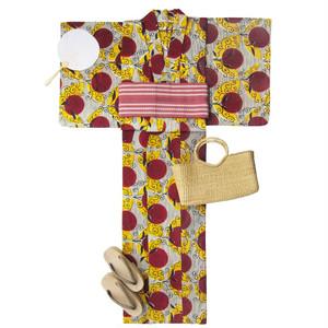 アフリカ布の浴衣 女物5 / African Yukata for Women 5