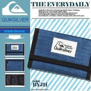 EQYAA03530 BYJH 三つ折り財布 クイックシルバー メンズ キッズ ウォレット 入学 就職 プレゼント ギフト THE EVERYDAILY QUIKSILVER
